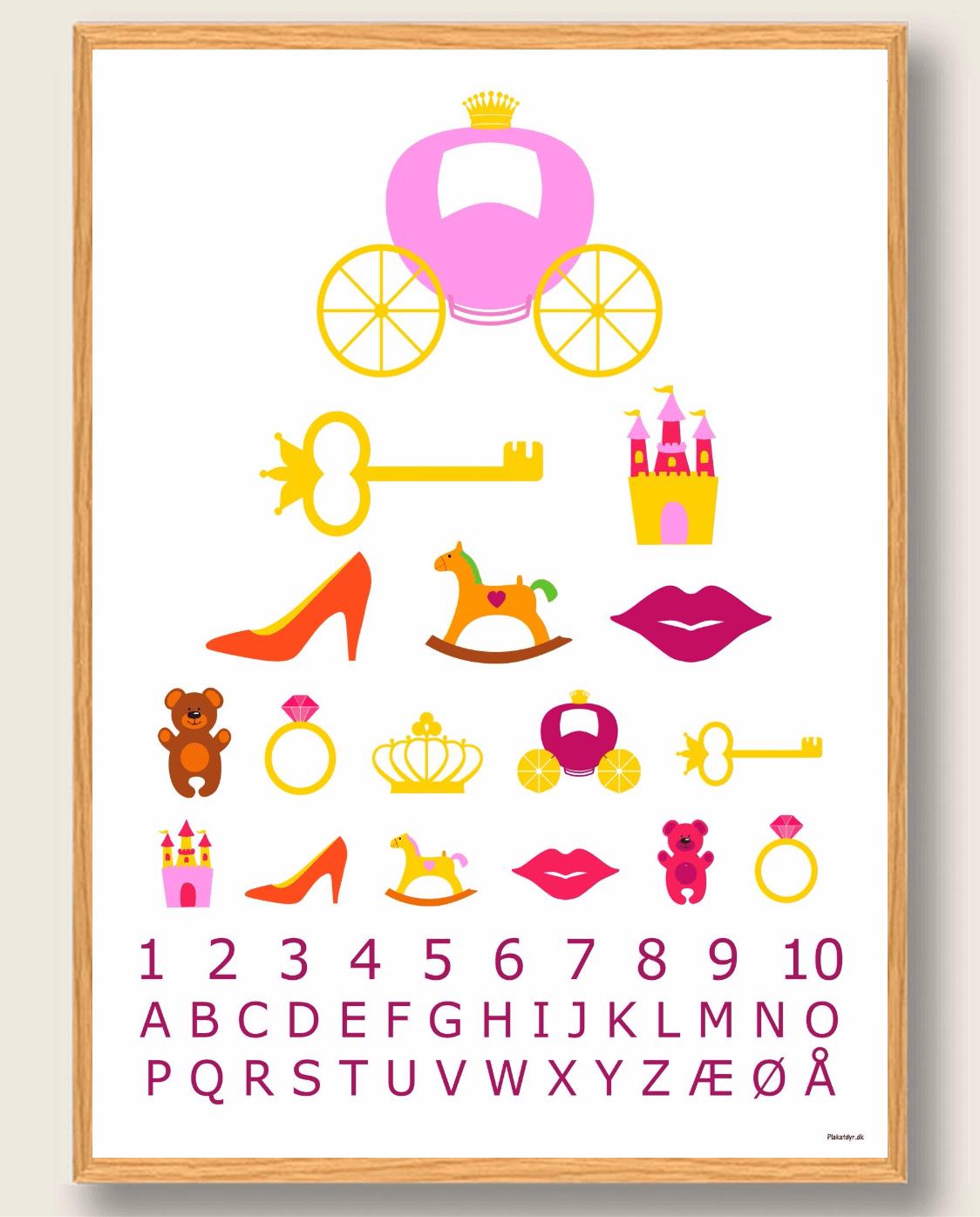 Synstavle prinsesse - plakat