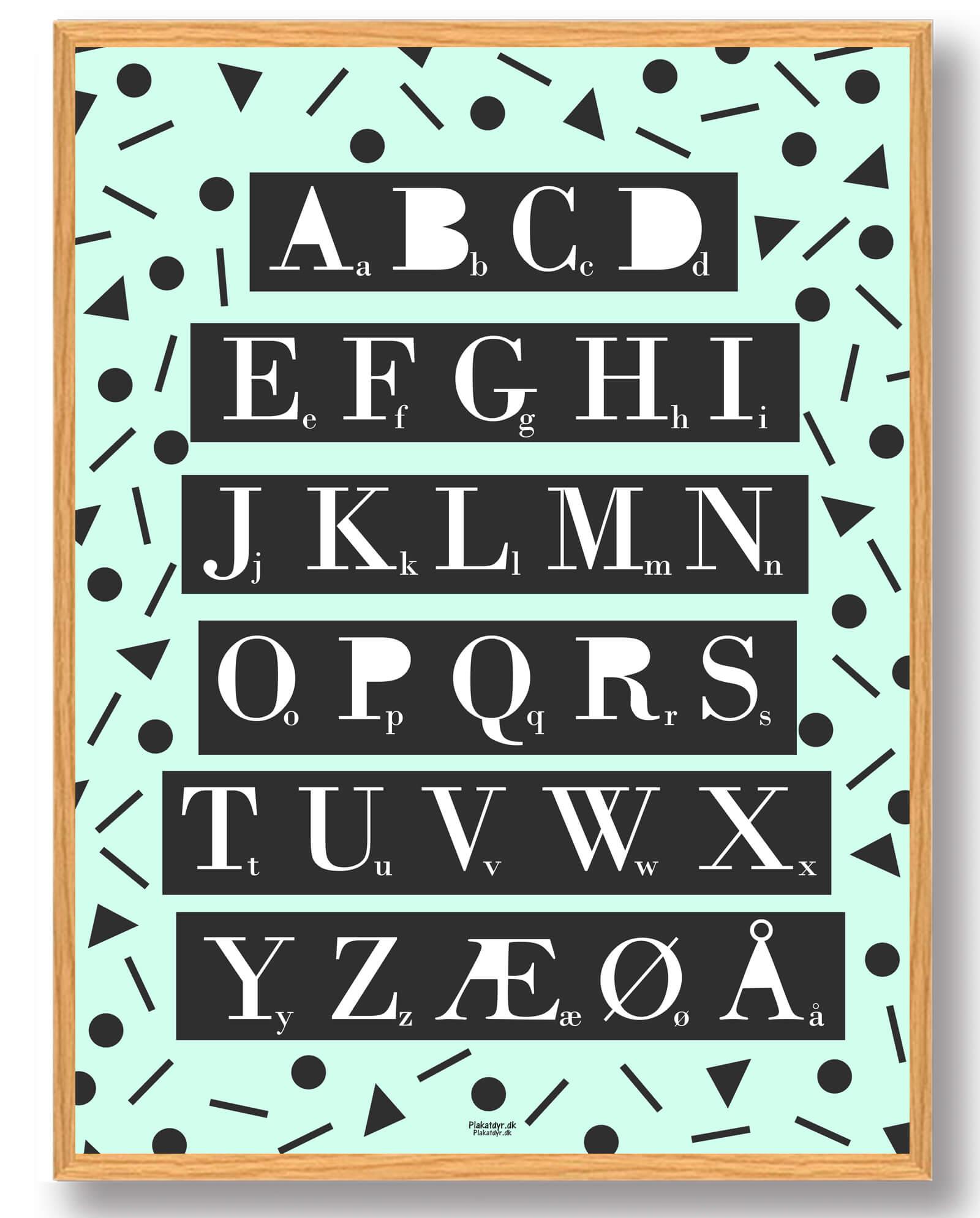 ABC-plakat (grøn)