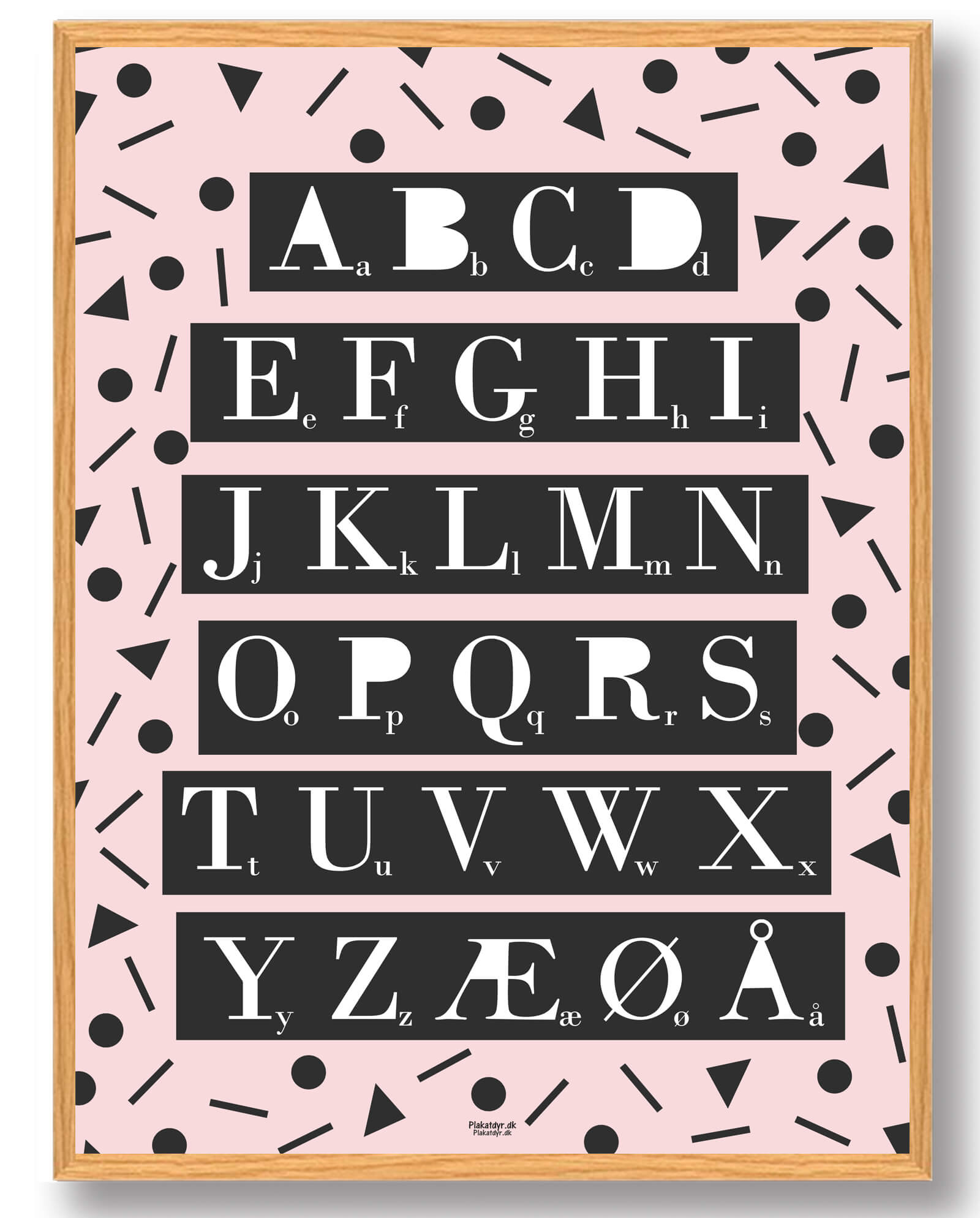 ABC-plakat (lyserød)