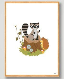 børneværelset-vaskebjørn-plakat