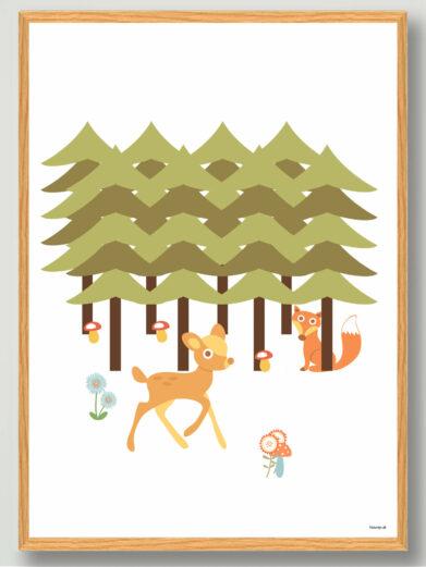 plakat-boernevaerelset-skoven