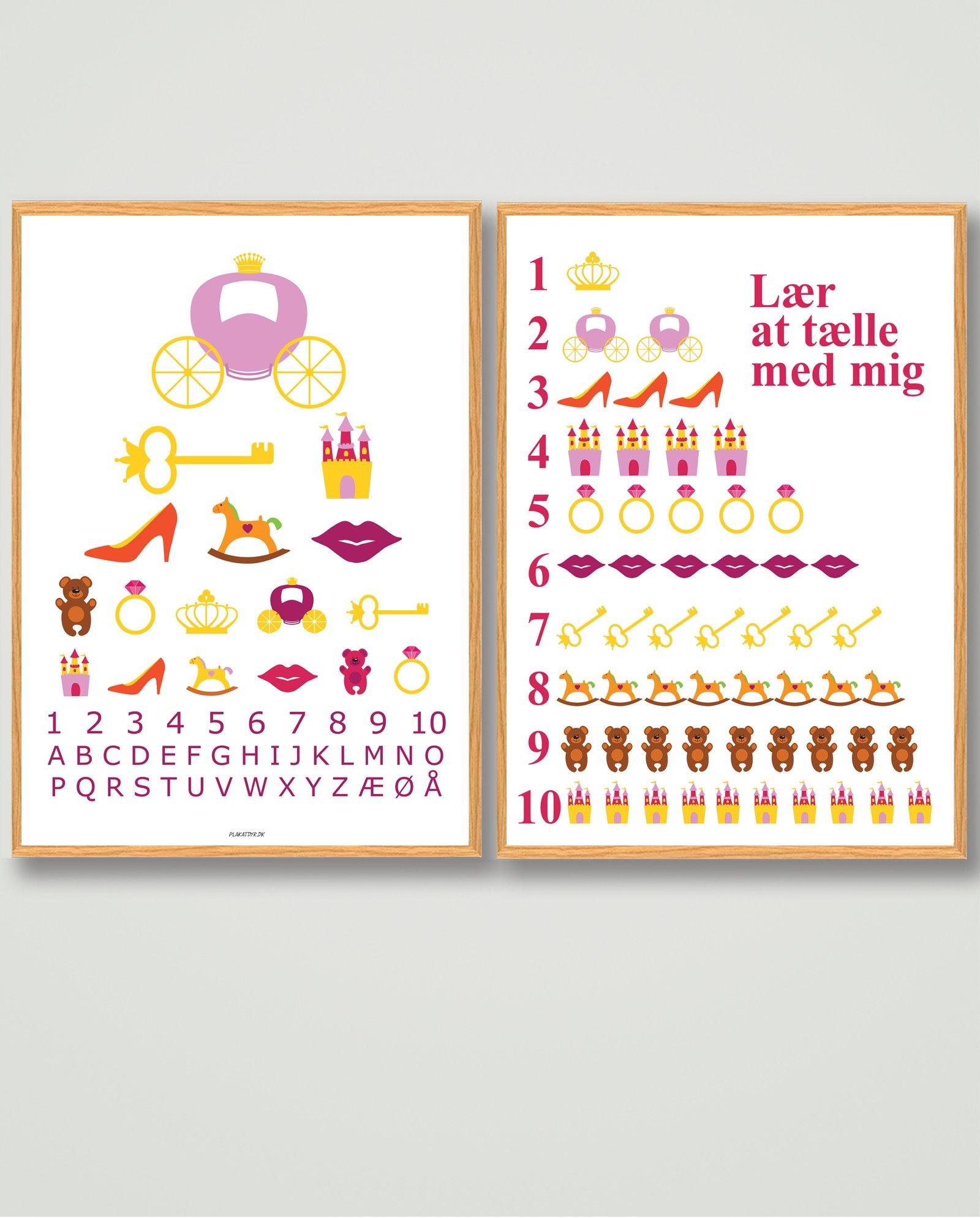 plakatsæt-tilbud-prinsesse-børneværelset-billigt-1