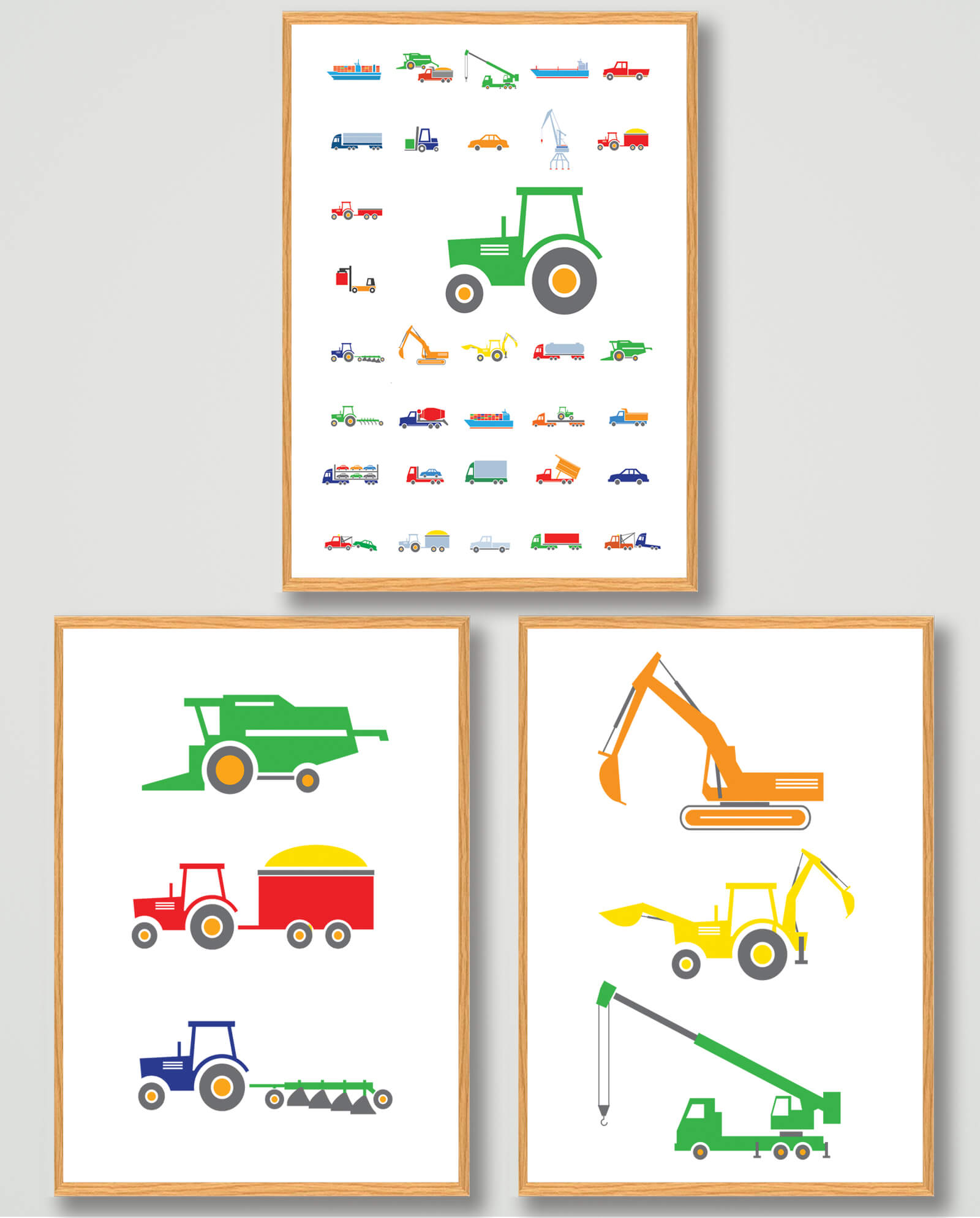 Plakatsæt: Industrimaskiner