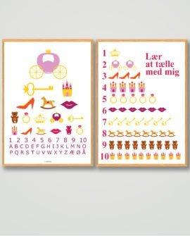 plakatsæt-tilbud-prinsesse-børneværelset-billigt