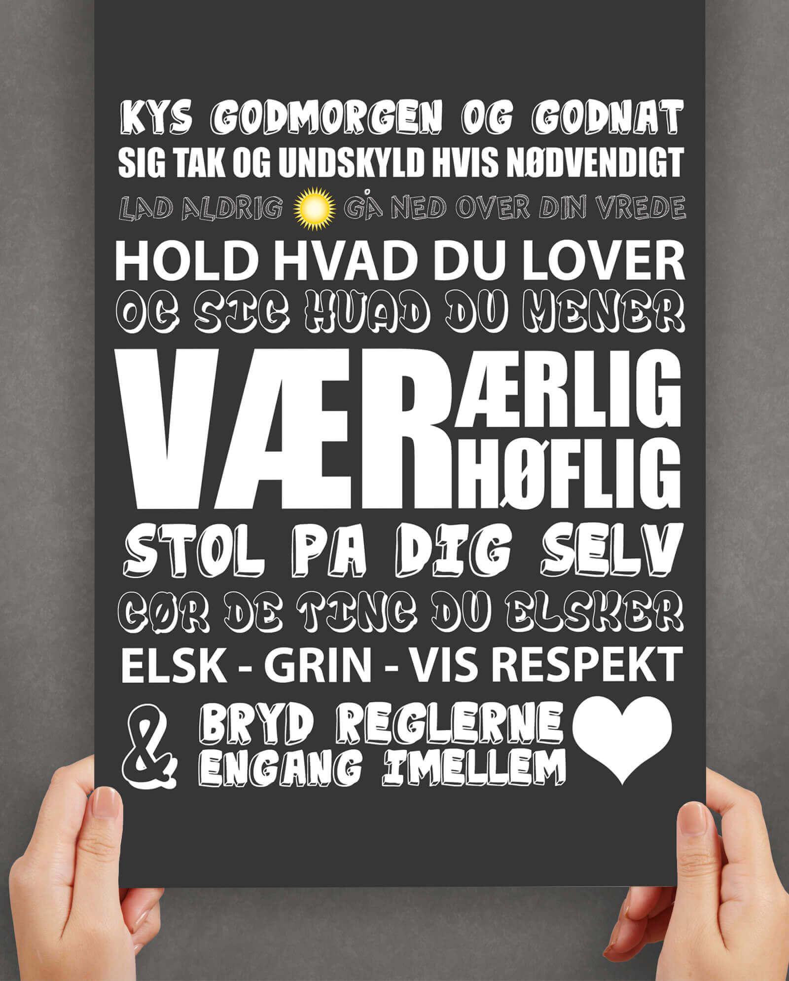 Kys-godtmorgen-sort-plakat