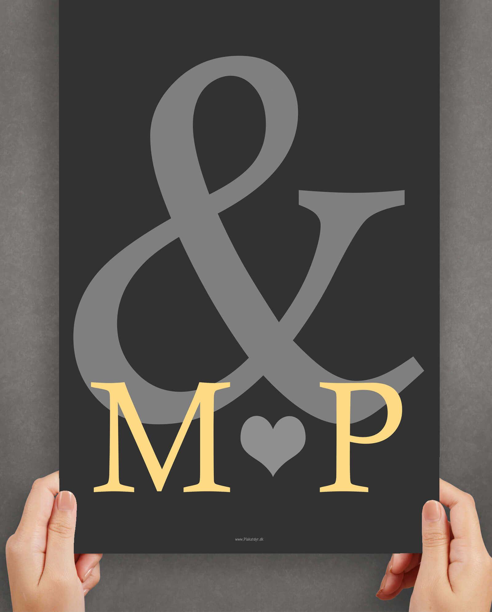 personlig-kaerlighedsplakat-simpel-brudepar-gave