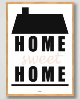 Home sweet home plakat