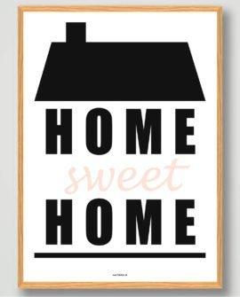 Home sweet home plakat