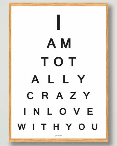 I am totally crazy in love with love plakat