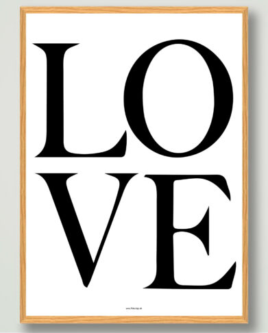 LOVE-plakat-sort-hvid