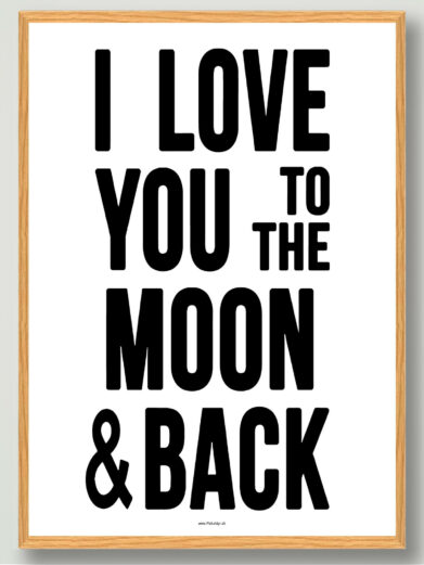 I love you to the moon-plakat
