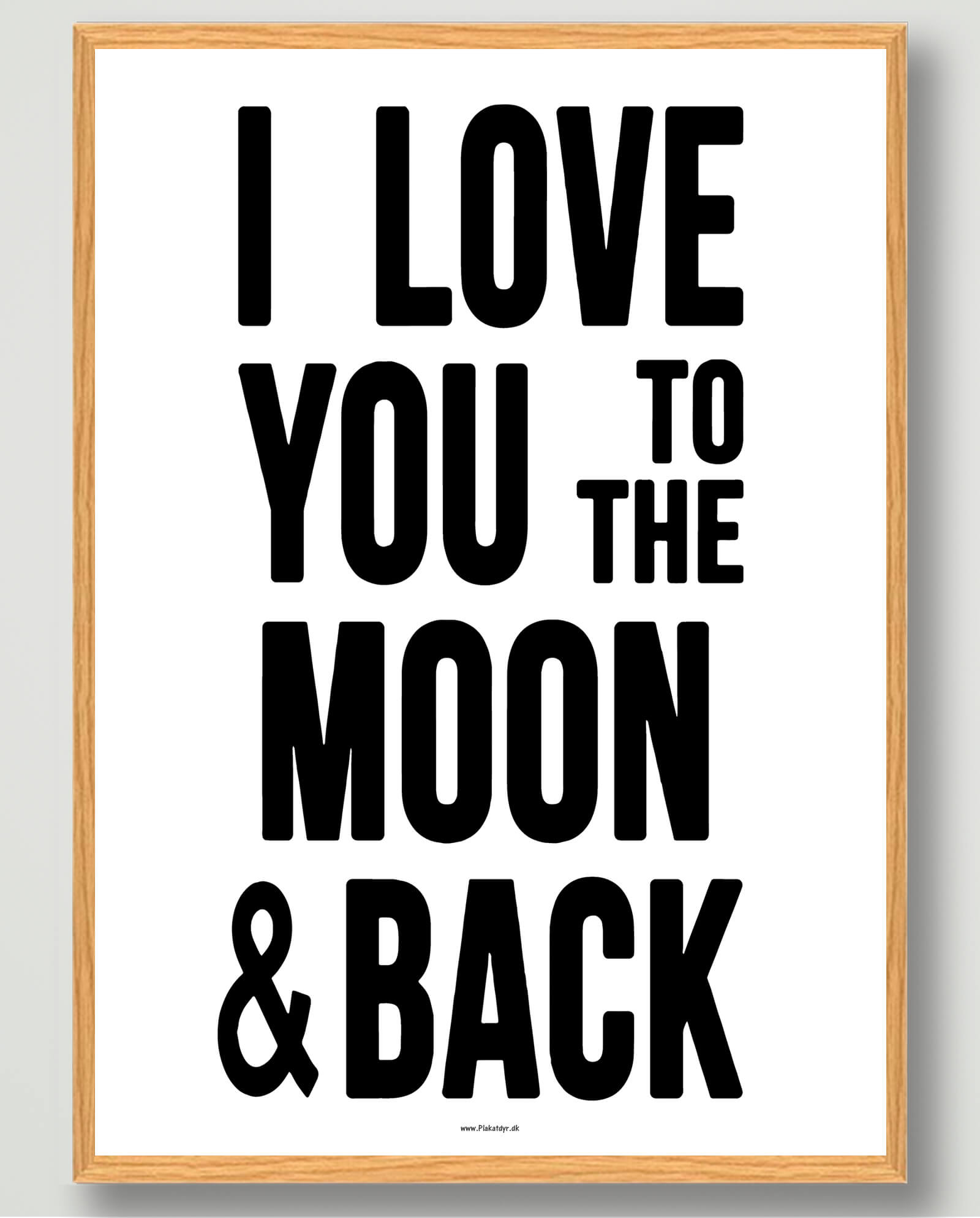 I love you to the moon... - plakat