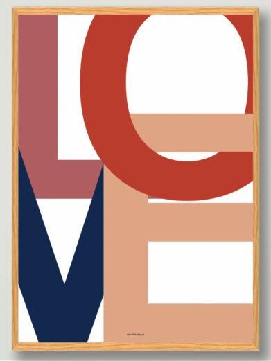 LOVE plakat kaerlighed