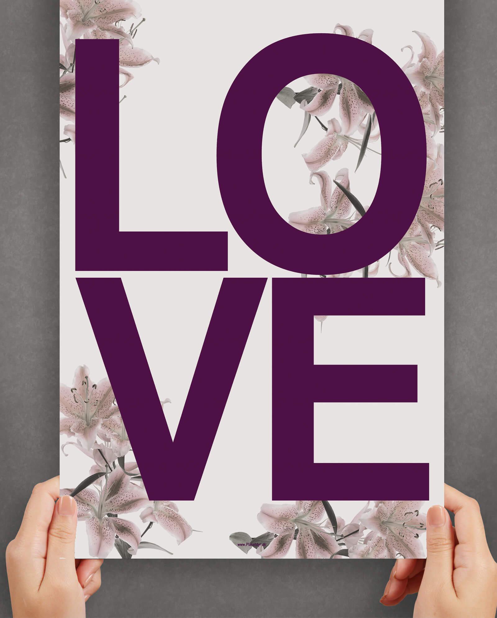 love-plakat-blomster