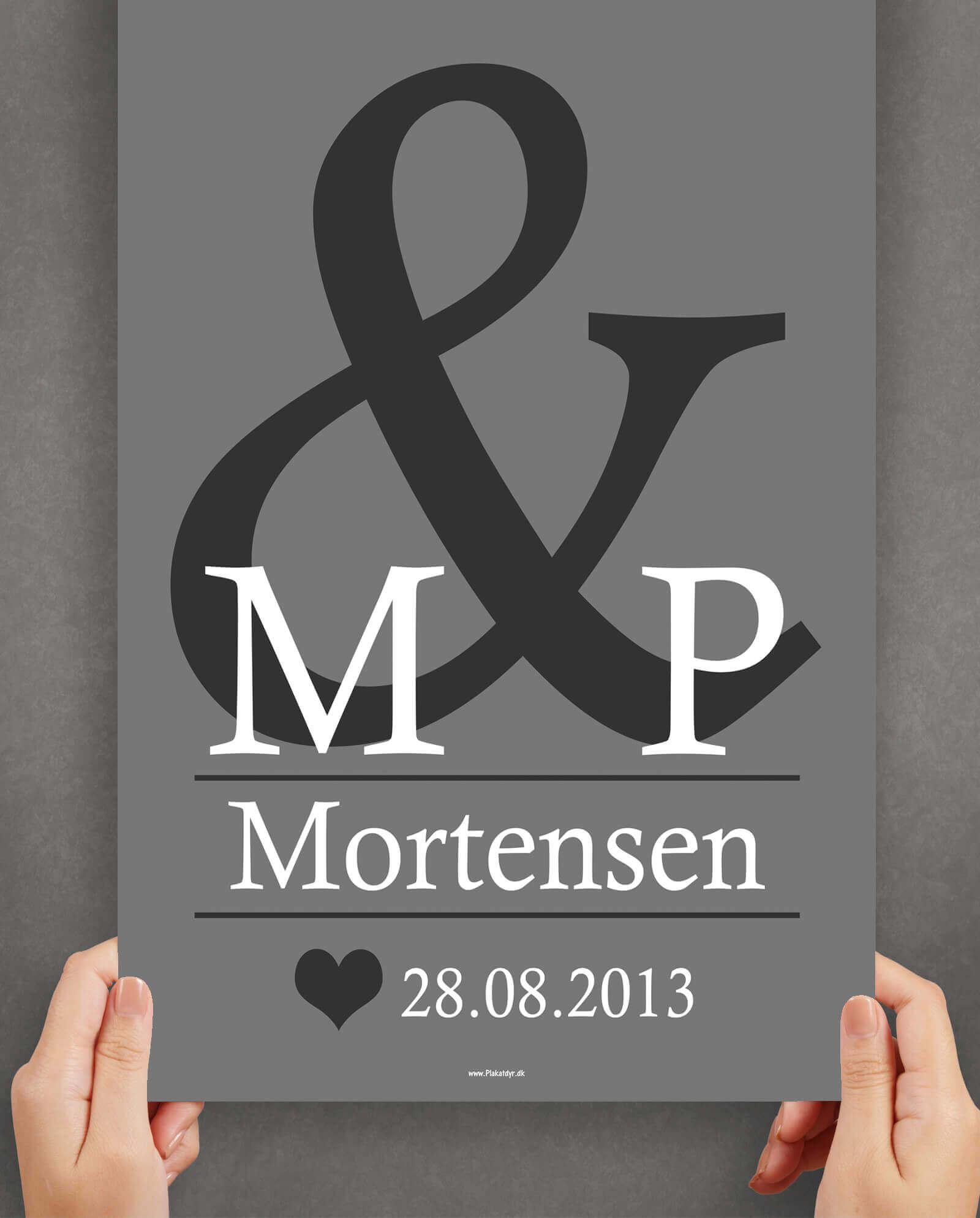 Bryllupsplakat-personlig-graa-dato