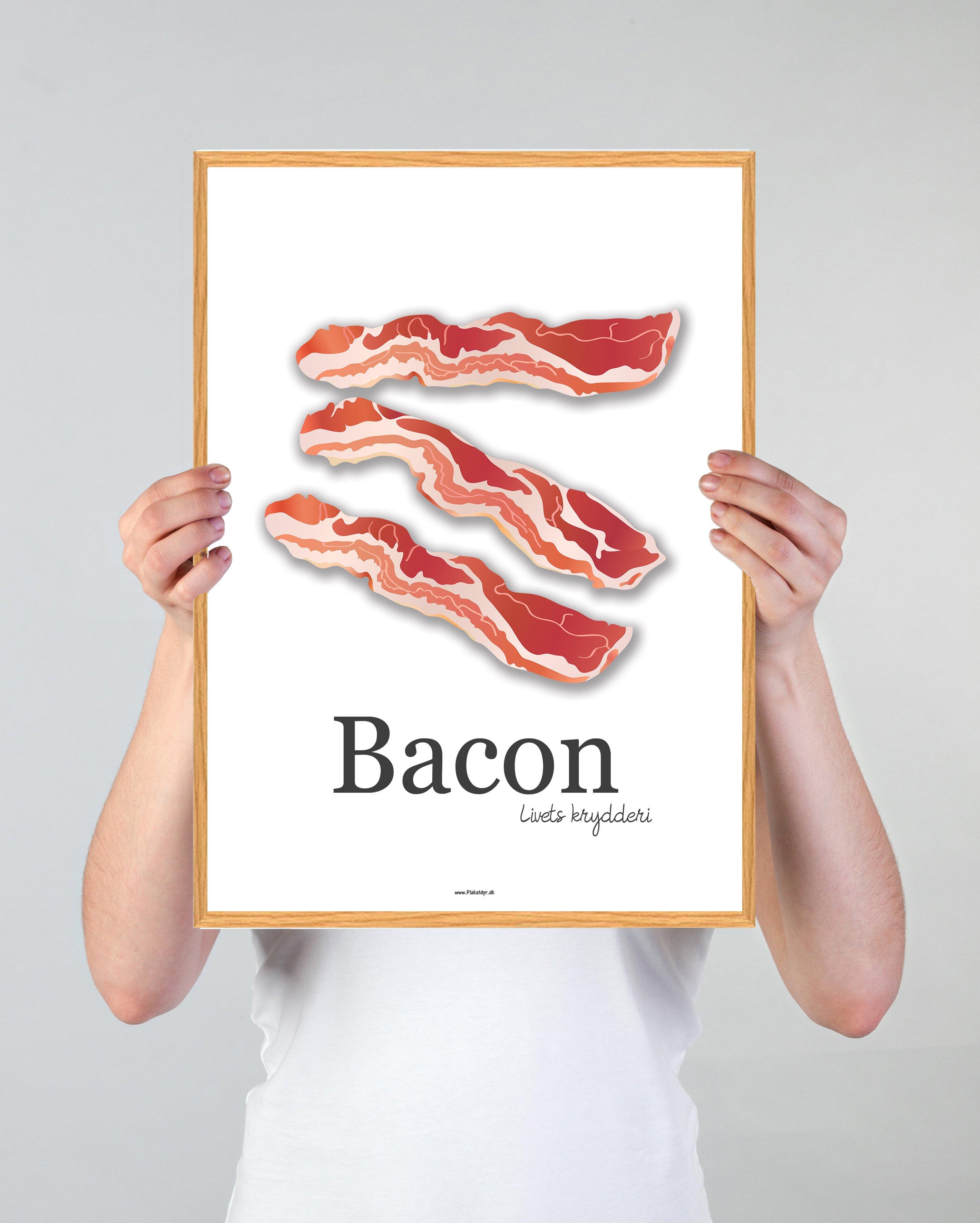 bacon-plakat-hvid