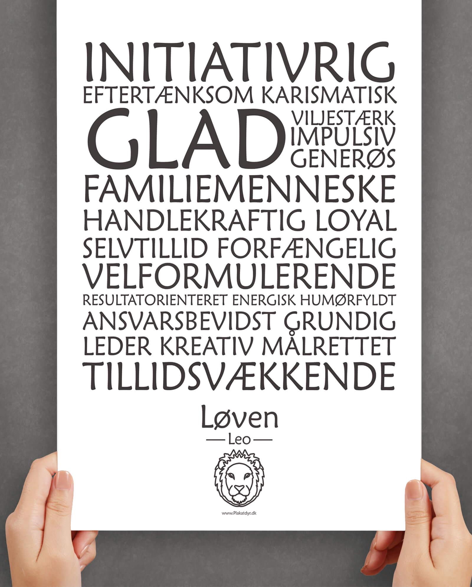 personligt-horoskop-plakat-løven