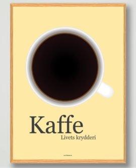 kaffe-plakat-gul