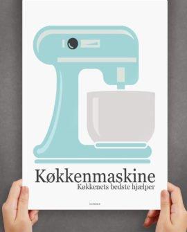køkkenmaskine-blå