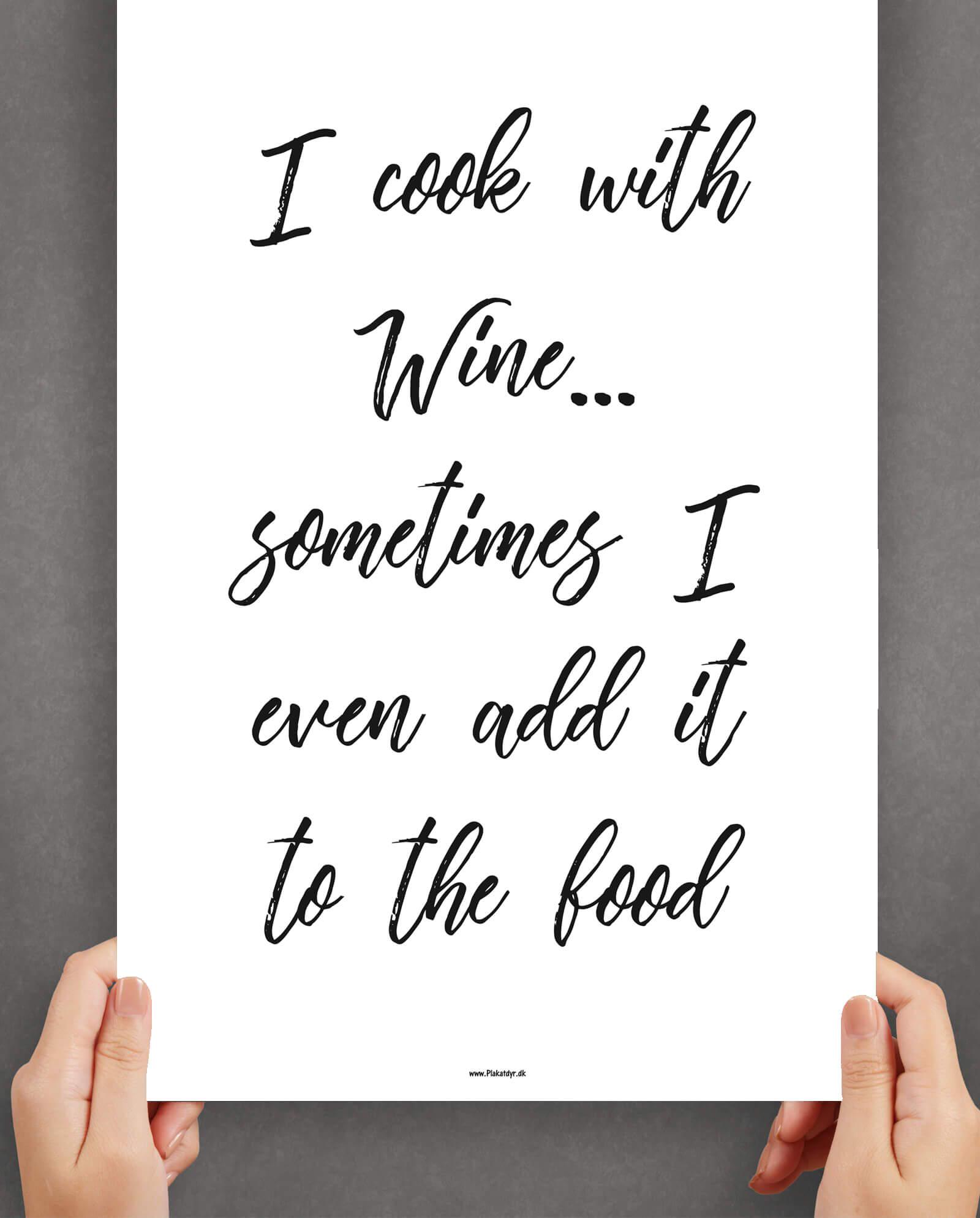 wine-køkkenplakat