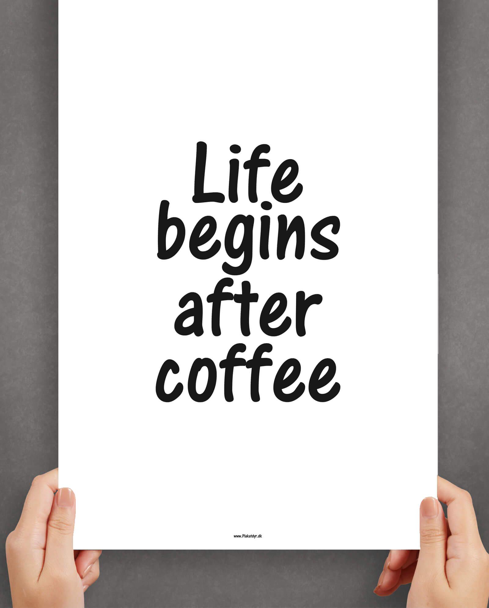coffee-køkkenplakat