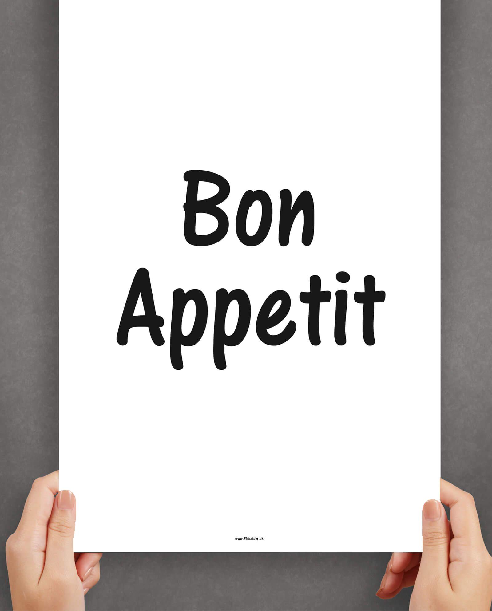 bon-appetit-køkkenplakat