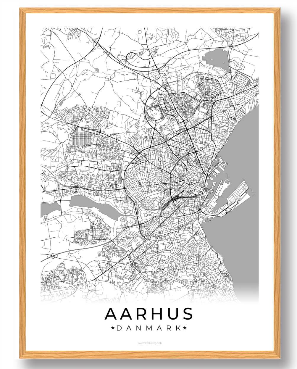Kob Vores Aarhus Plakat Hvid Plakat Online Lynhurtig Og