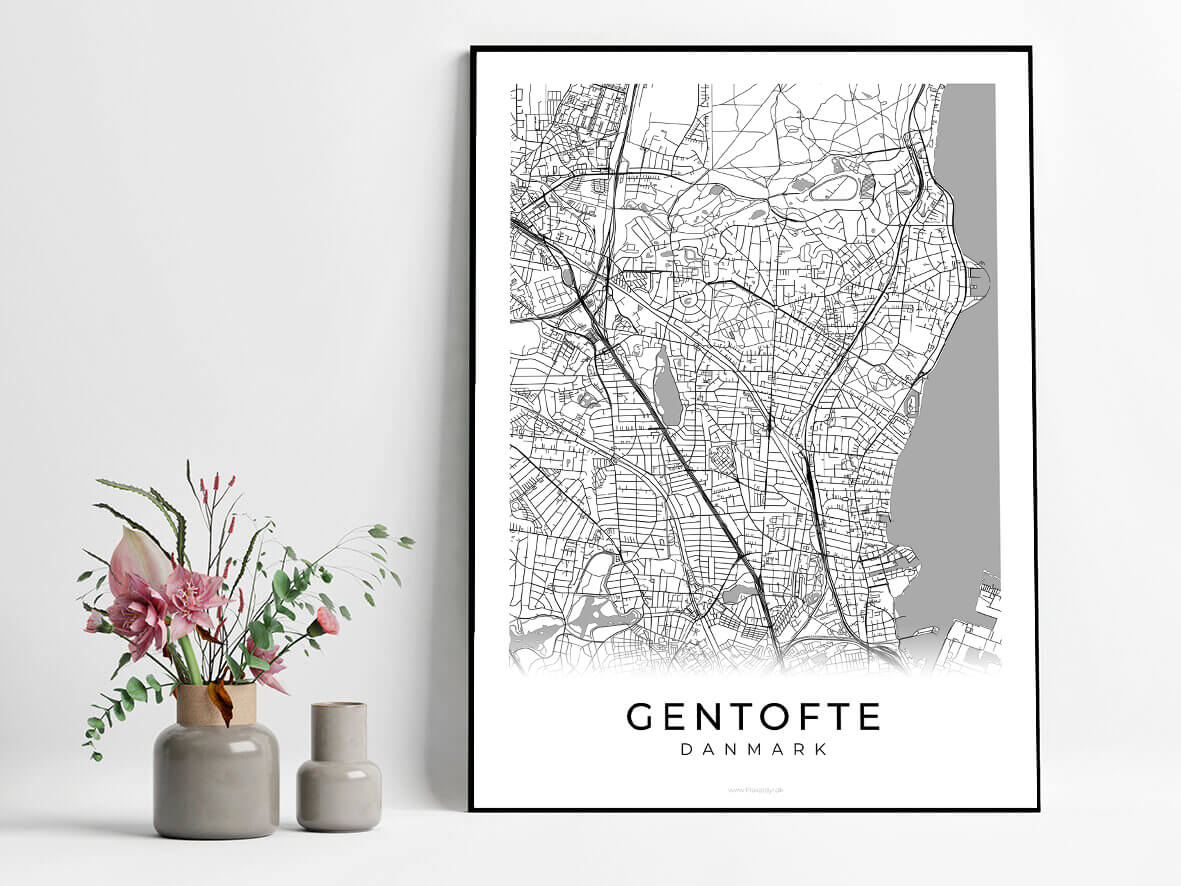 Gentofte-hvid-byplakat