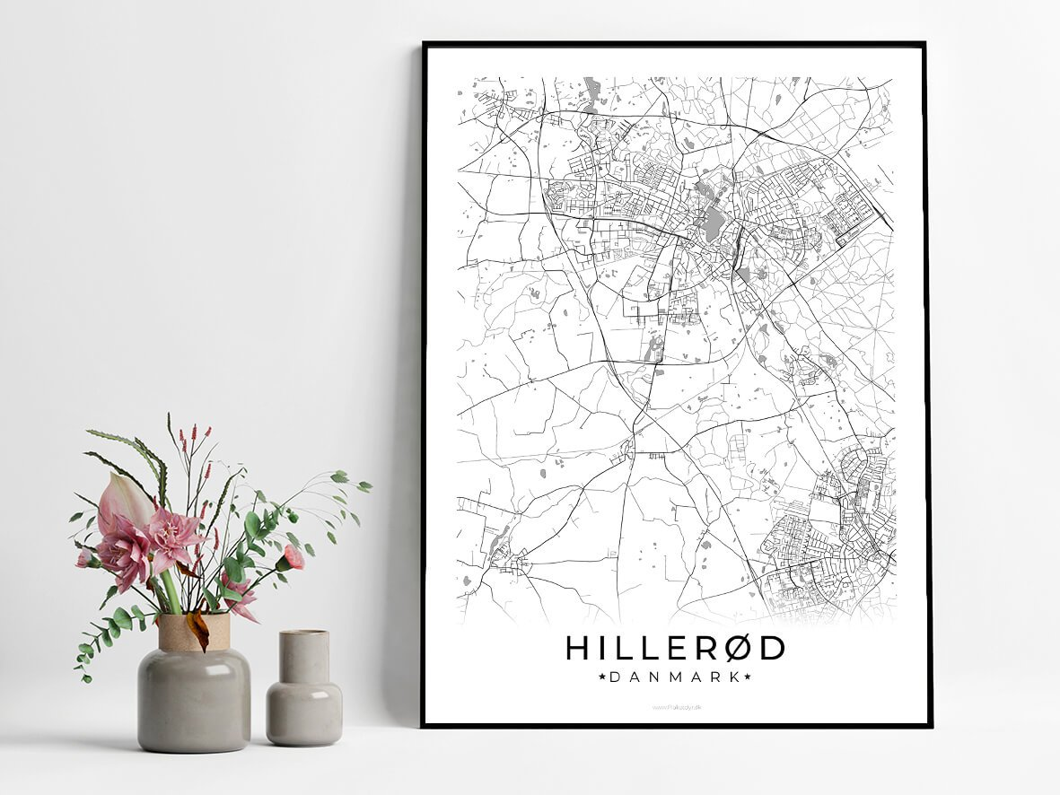 Hilleroed-hvid-byplakat