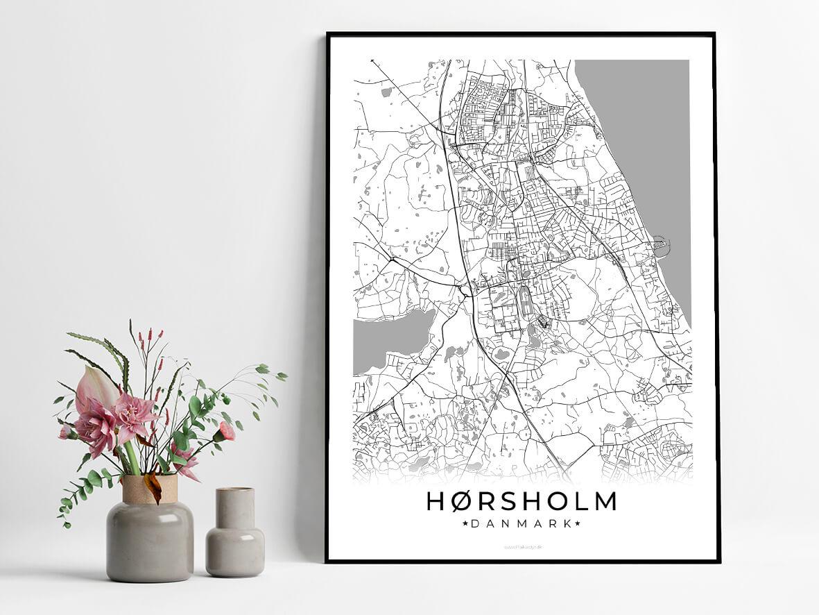 Hoersholm-hvid-byplakat