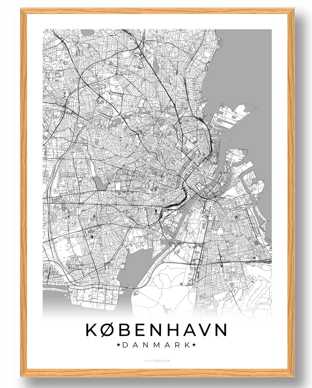 Kob Vores Kobenhavn Plakat Hvid Plakat Online Lynhurtig Og