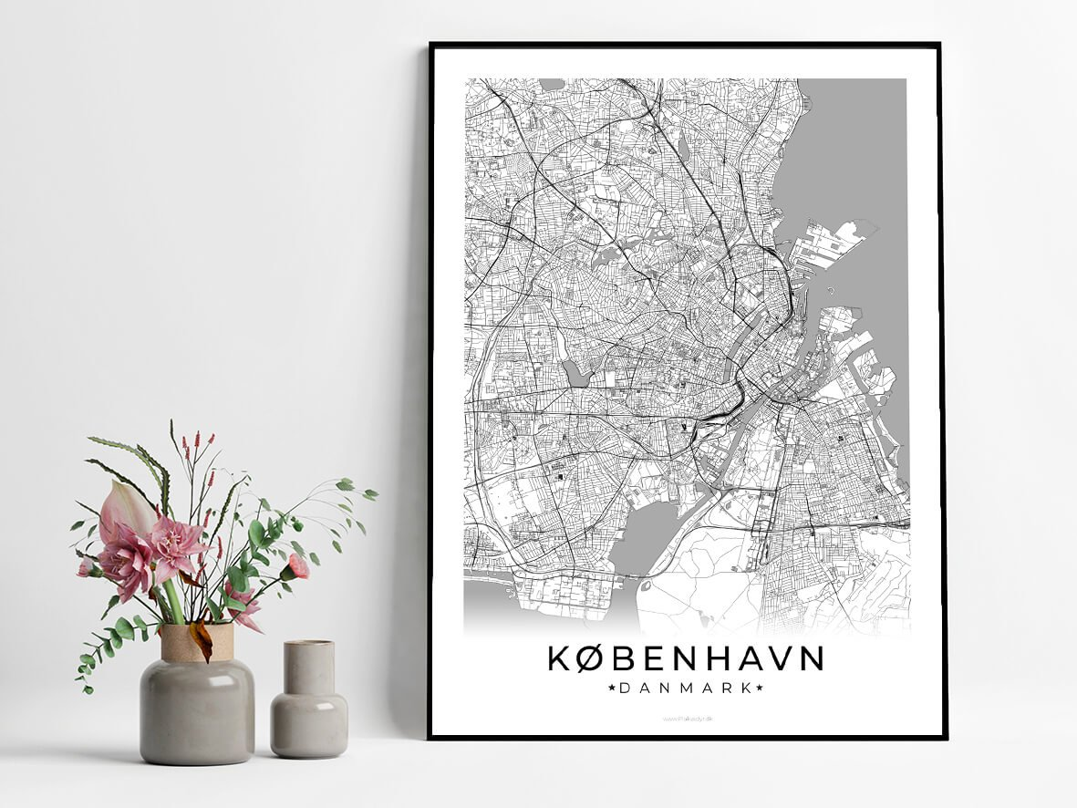 Koebenhavn-hvid-byplakat