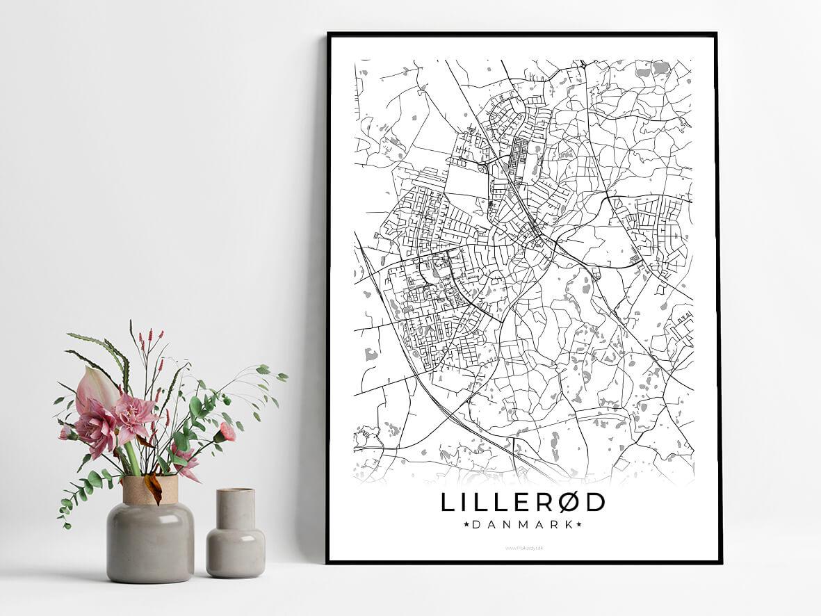 Lilleroed-hvid-byplakat