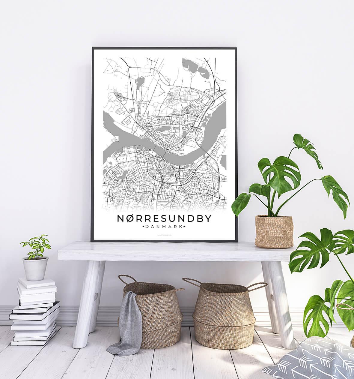 Noerresundby-hvid-byplakat-1