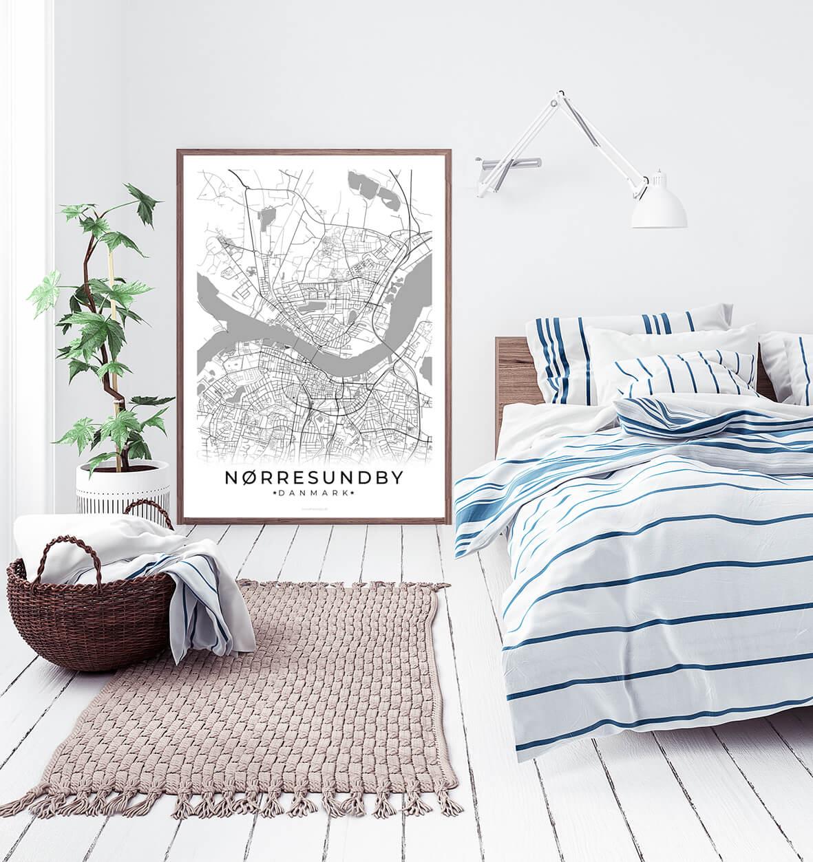 Noerresundby-hvid-byplakat-2
