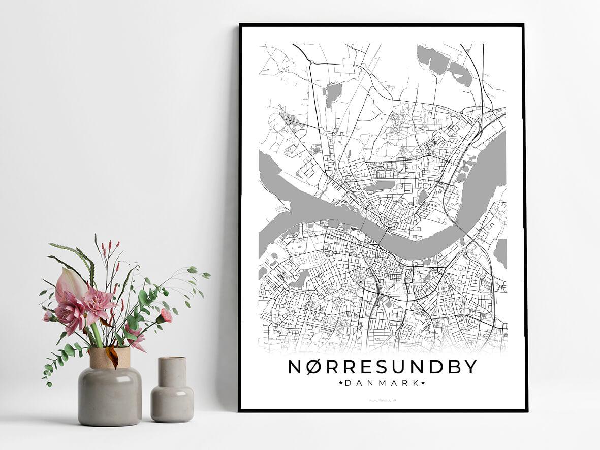 Noerresundby-hvid-byplakat