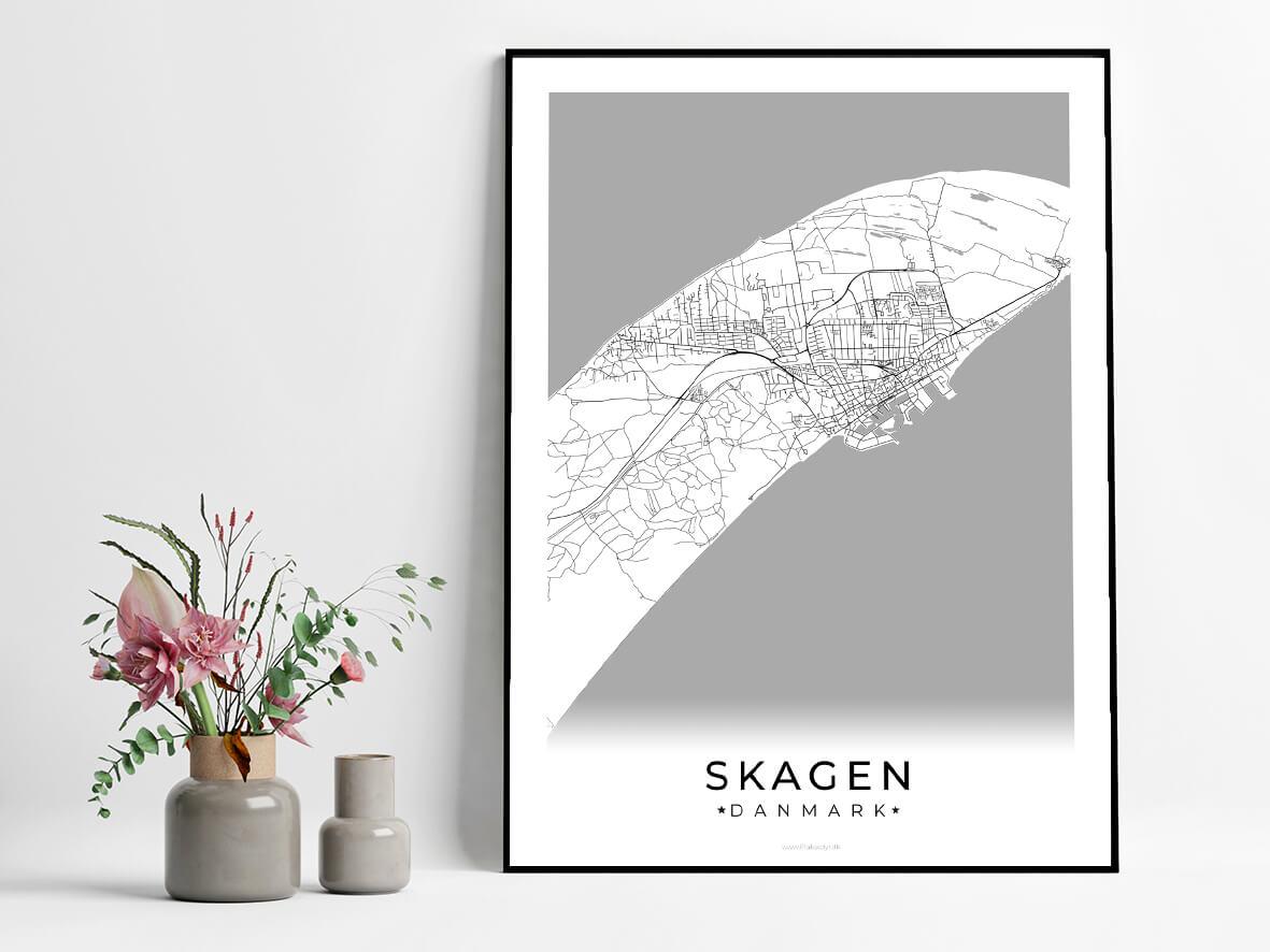Skagen-hvid-byplakat