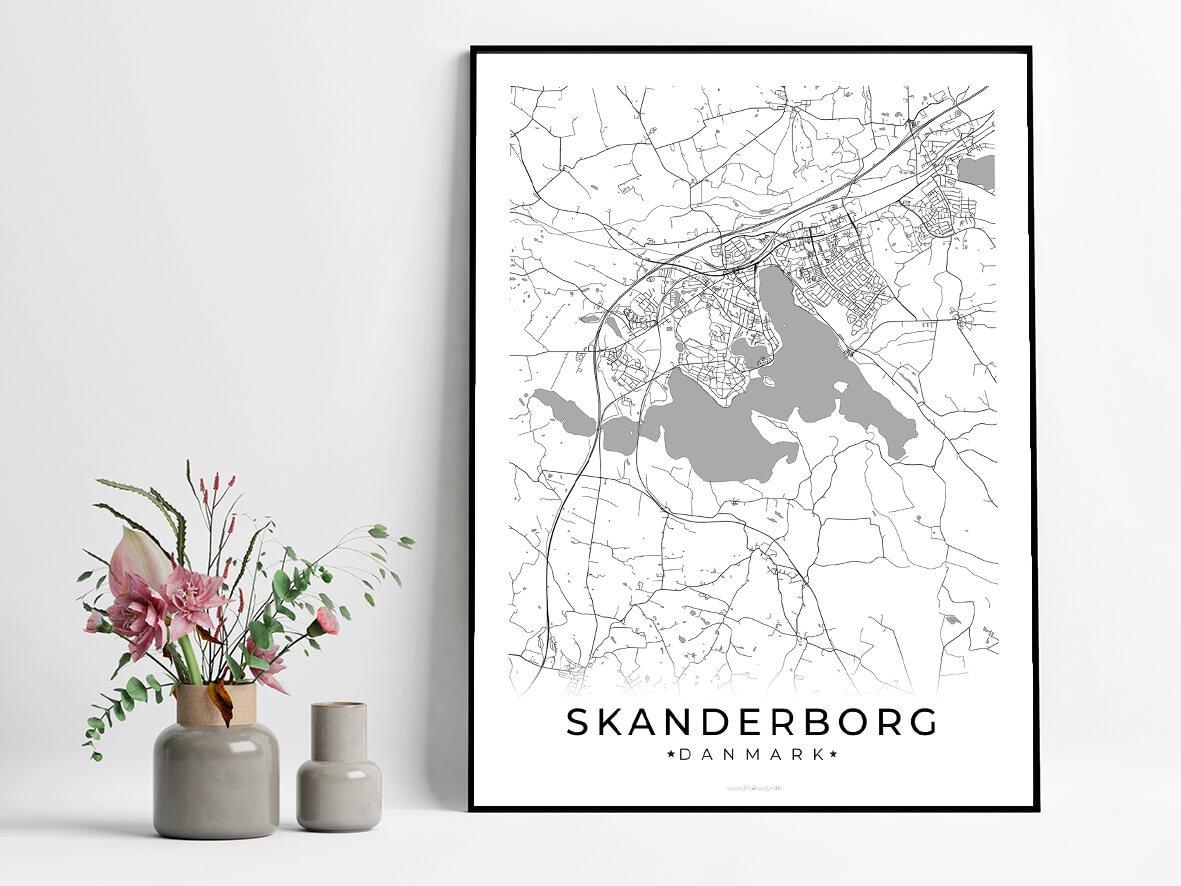Skanderborg-hvid-byplakat