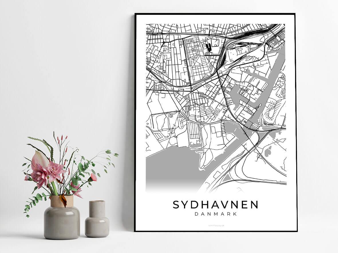 Sydhavnen-hvid-byplakat