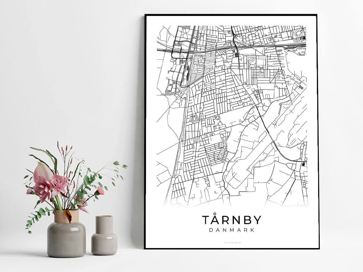 Taarnby-hvid-byplakat