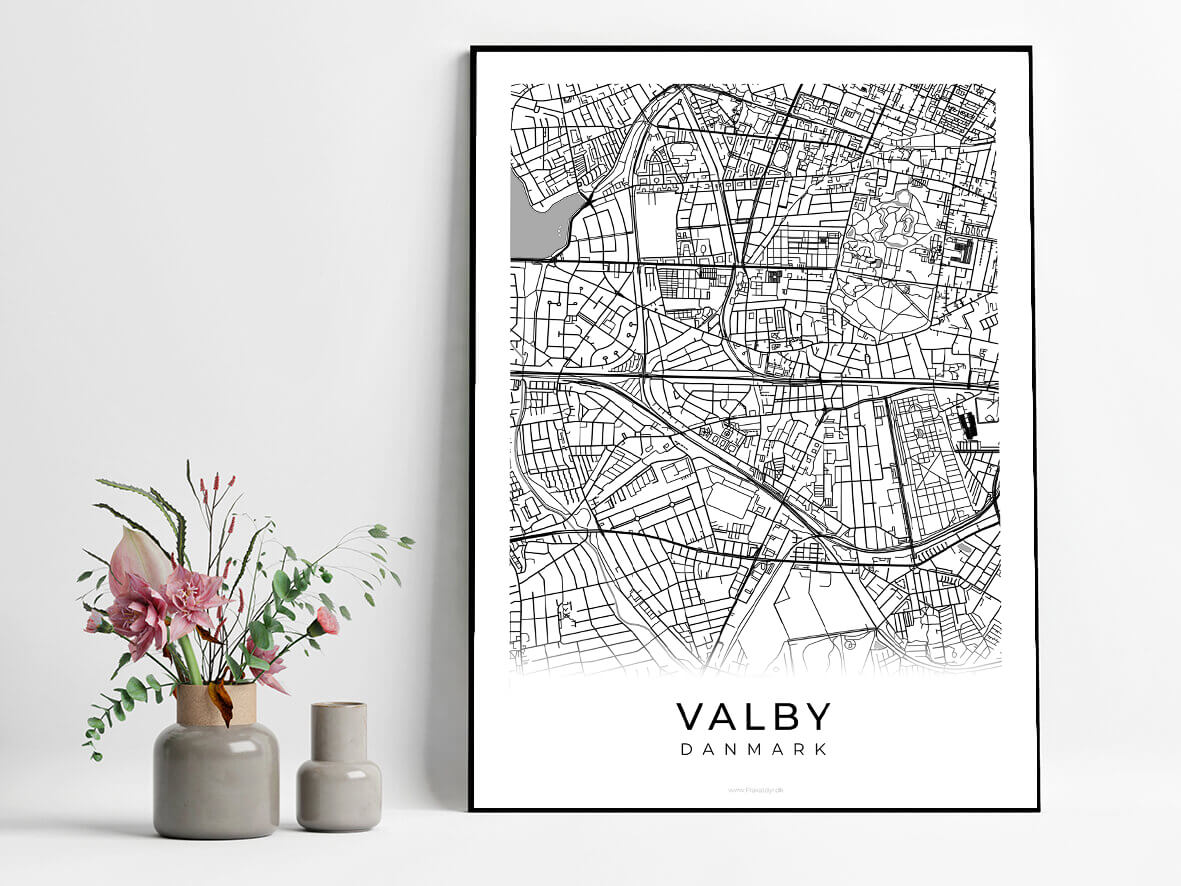 Valby-hvid-byplakat