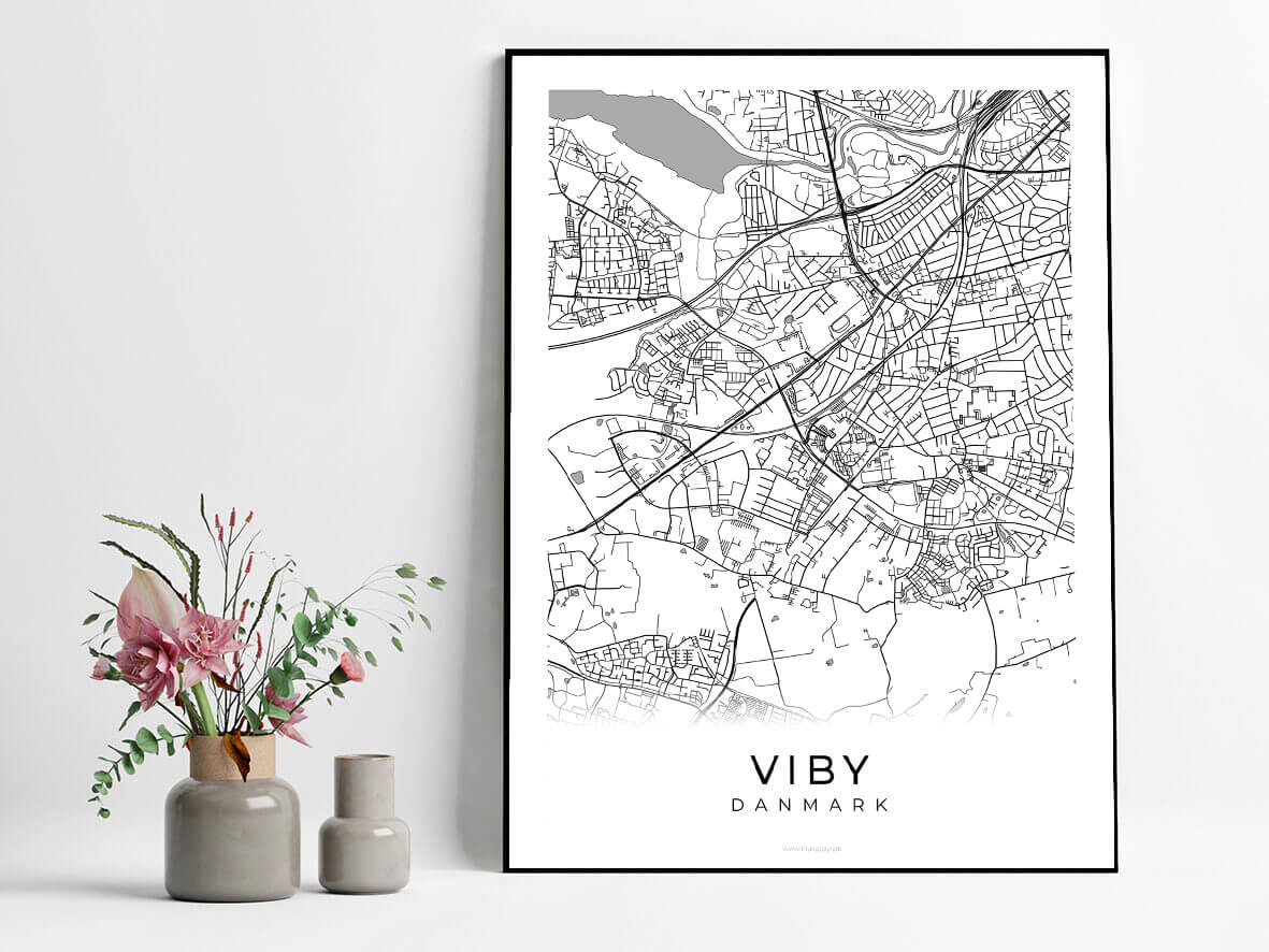 Viby-hvid-byplakat