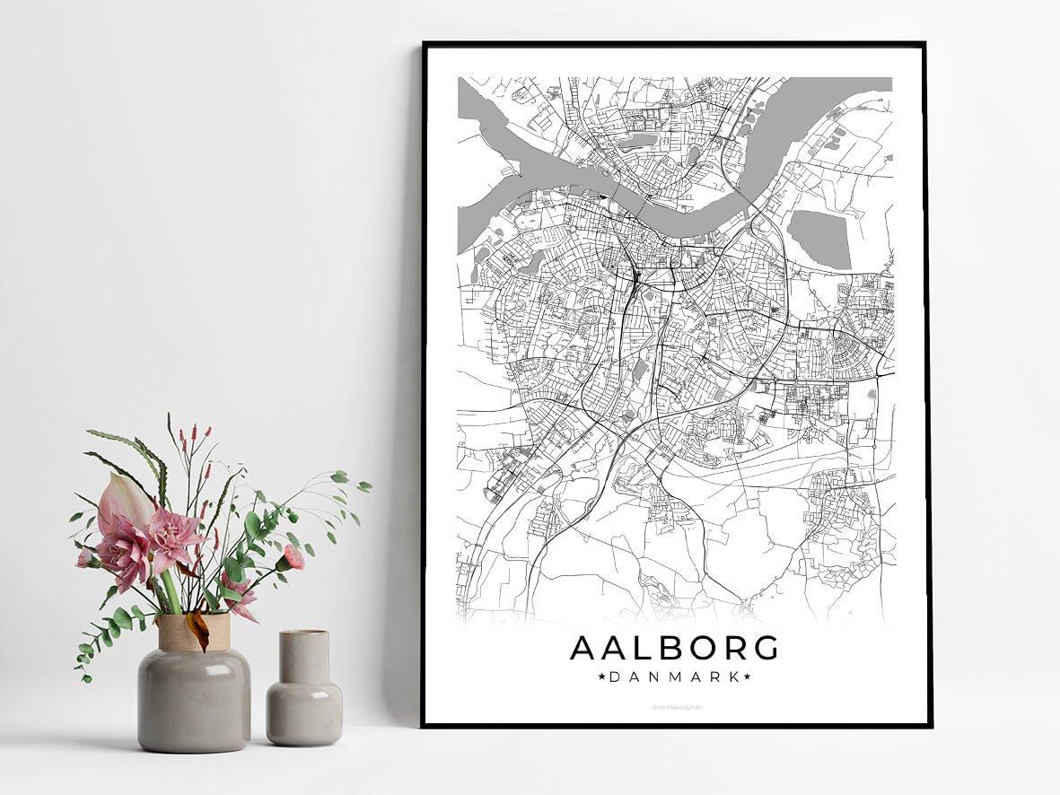 Aalborg-hvid-byplakat