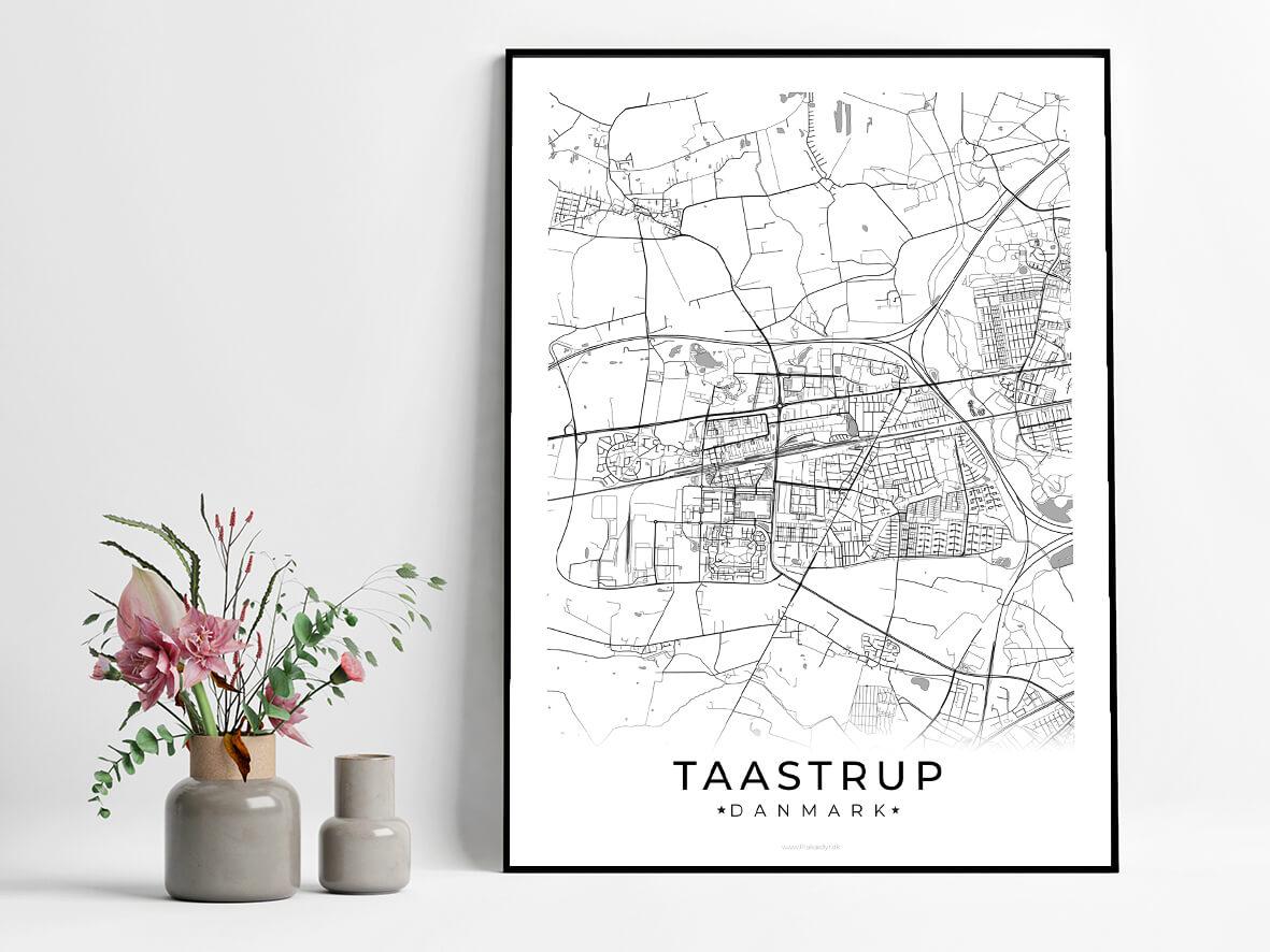 Taastrup-hvid-byplakat