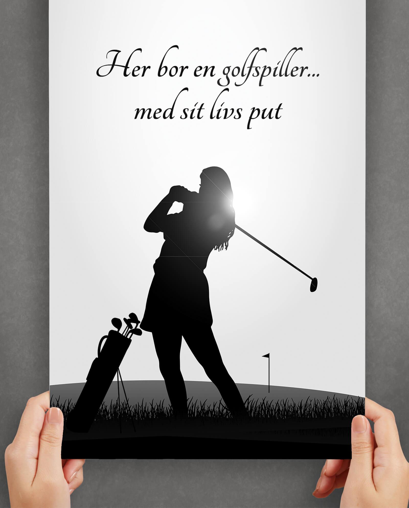 golf-silhuet-plakat