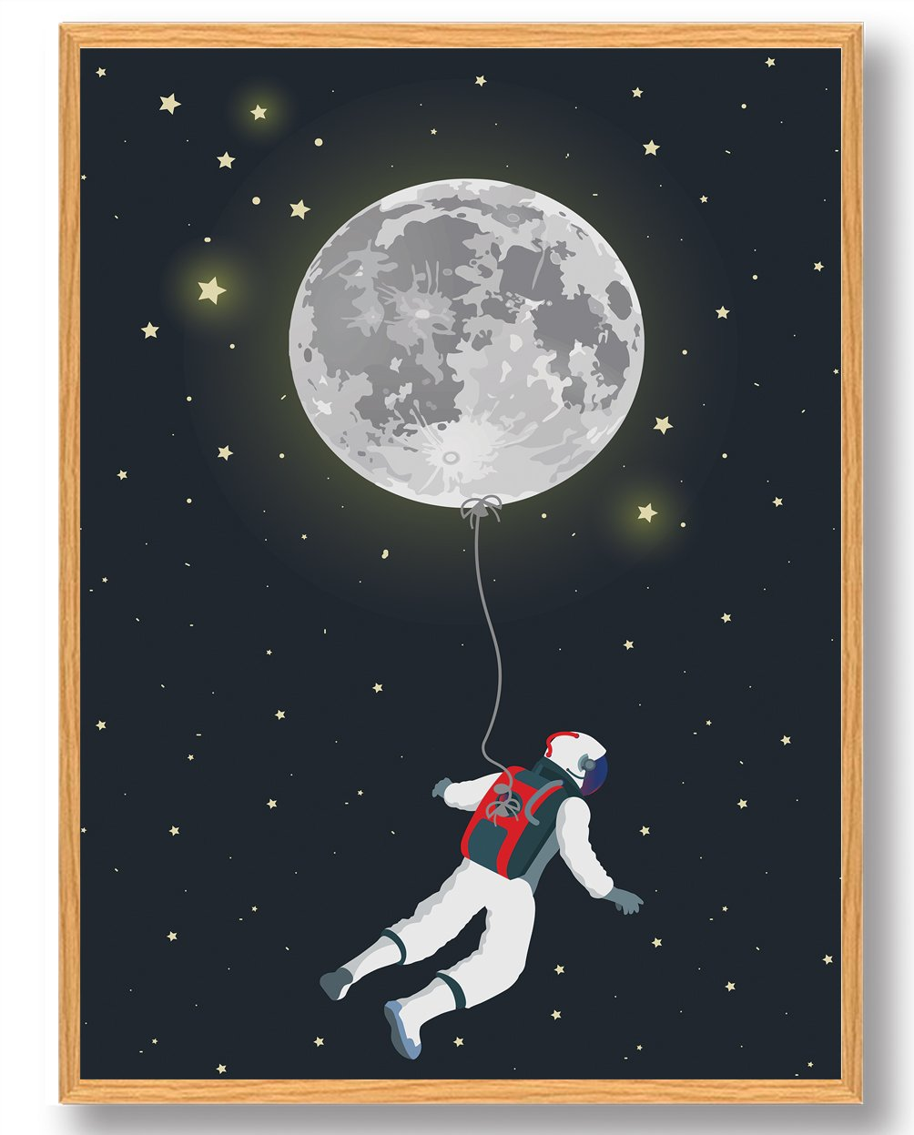 Ballon spaceman - plakat