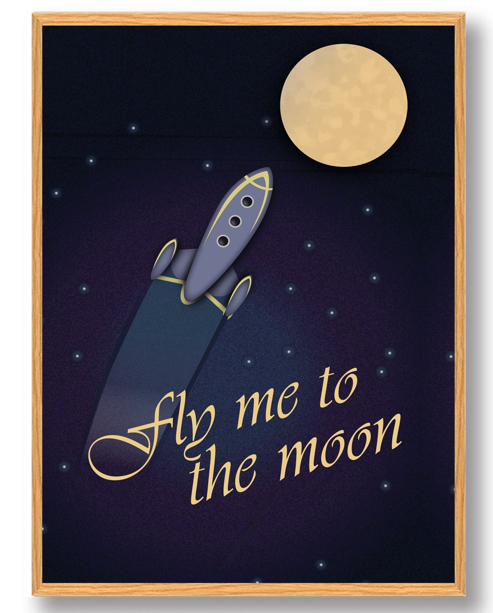 Fly me to the moon - plakat