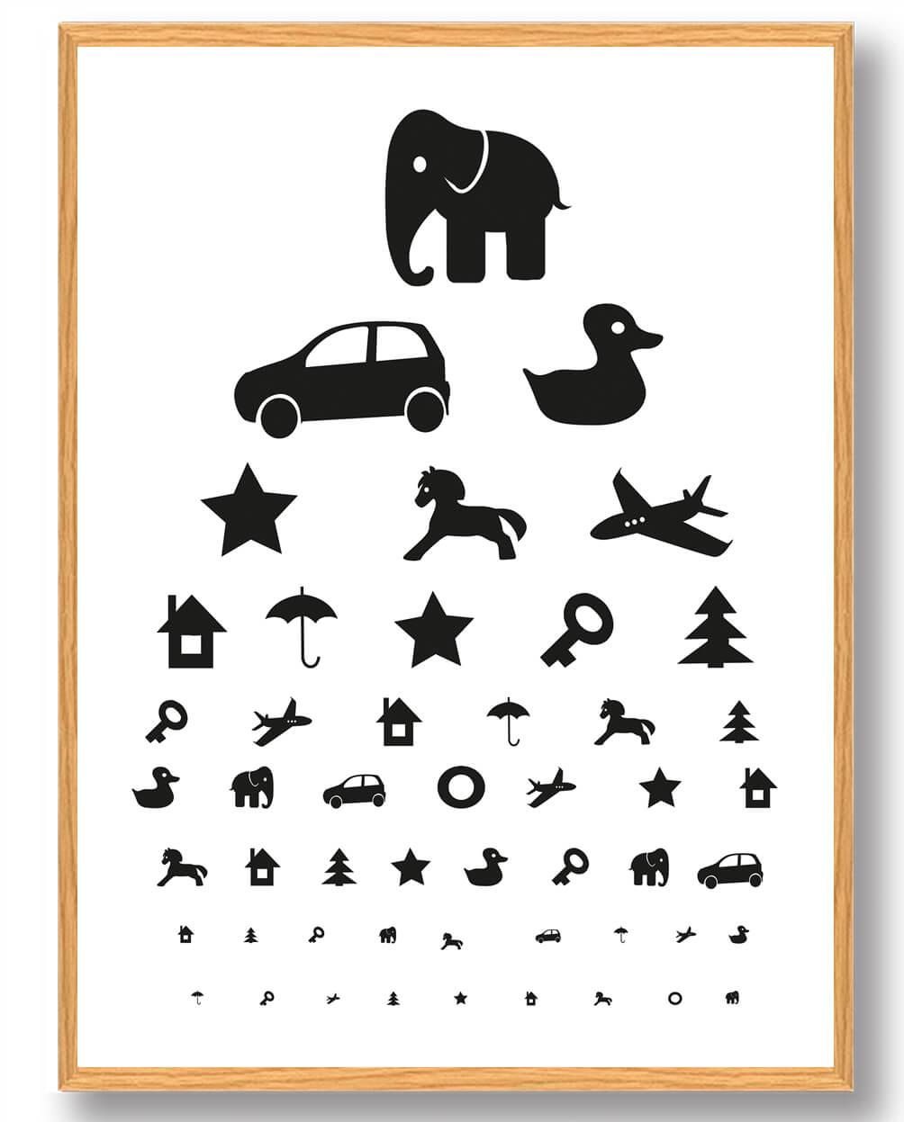 Synstavle sort/hvid - plakat