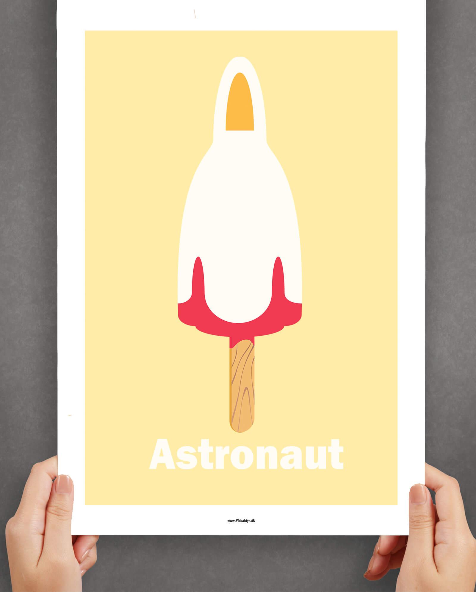 astronaut-plakat-gul-1
