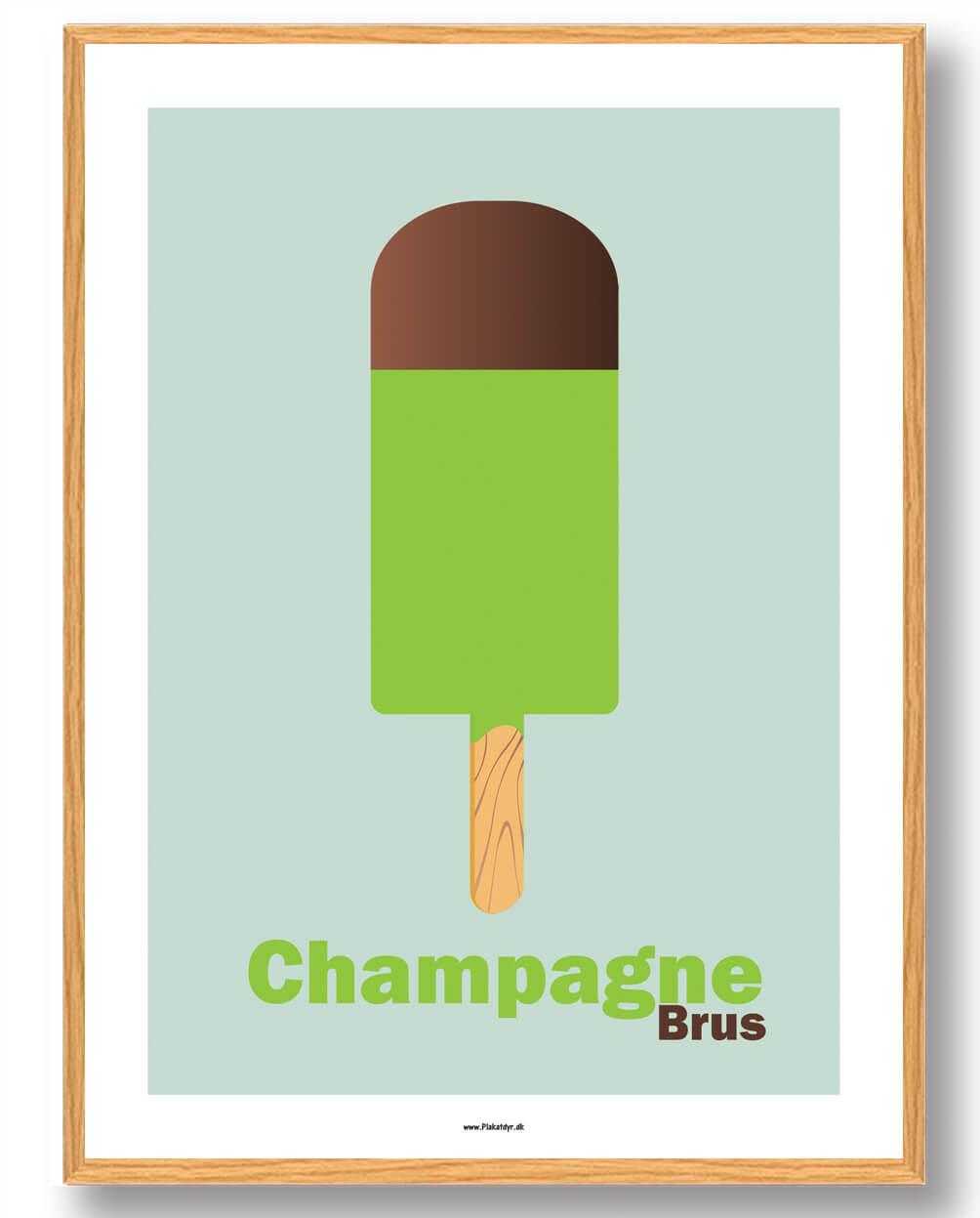 Champagnebrus - plakat